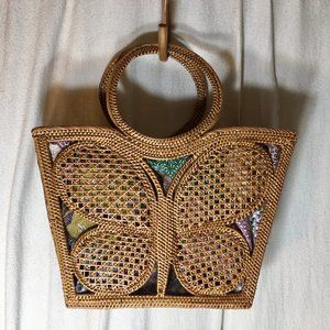 Handbags - ATA Rattan Butterfly Bag